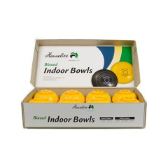 "Henselite Indoor Carpet Bowls - 4"" Yellow Only"