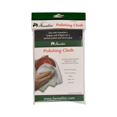 Henselite Logo Polishing Cloth - Packaged