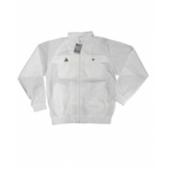 Henselite Rainwear Jacket - Unlined Elastic White