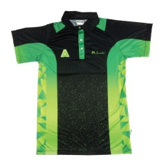 Henselite Mens Draw Polo Black/Lime