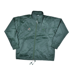 Henselite Rainwear: Jacket - Unlined Drawstring Bottle Green