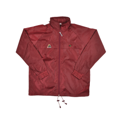 Henselite Rainwear: Jacket - Unlined Drawstring Burgundy