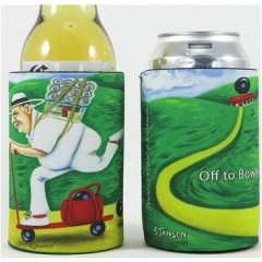Sue Janson Off To Bowls Stubby Holder