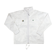 Henselite Rainwear: Jacket - Unlined Drawstring White